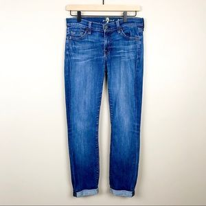 ❤️7 For All Mankind The Skinny Crop & Roll Jeans